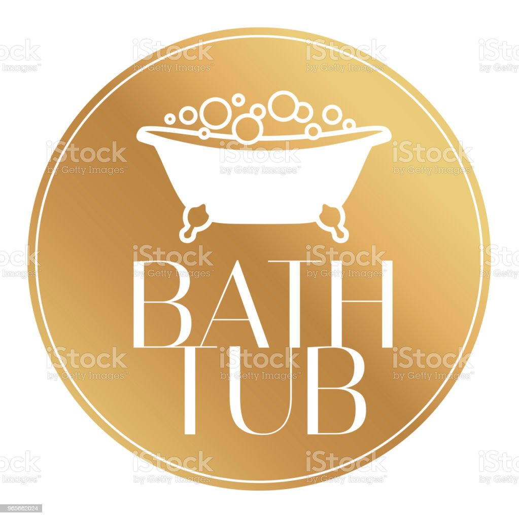 Isolated Icon Vector Logo Bath Tub With Bubbles Stock Vector Art ...