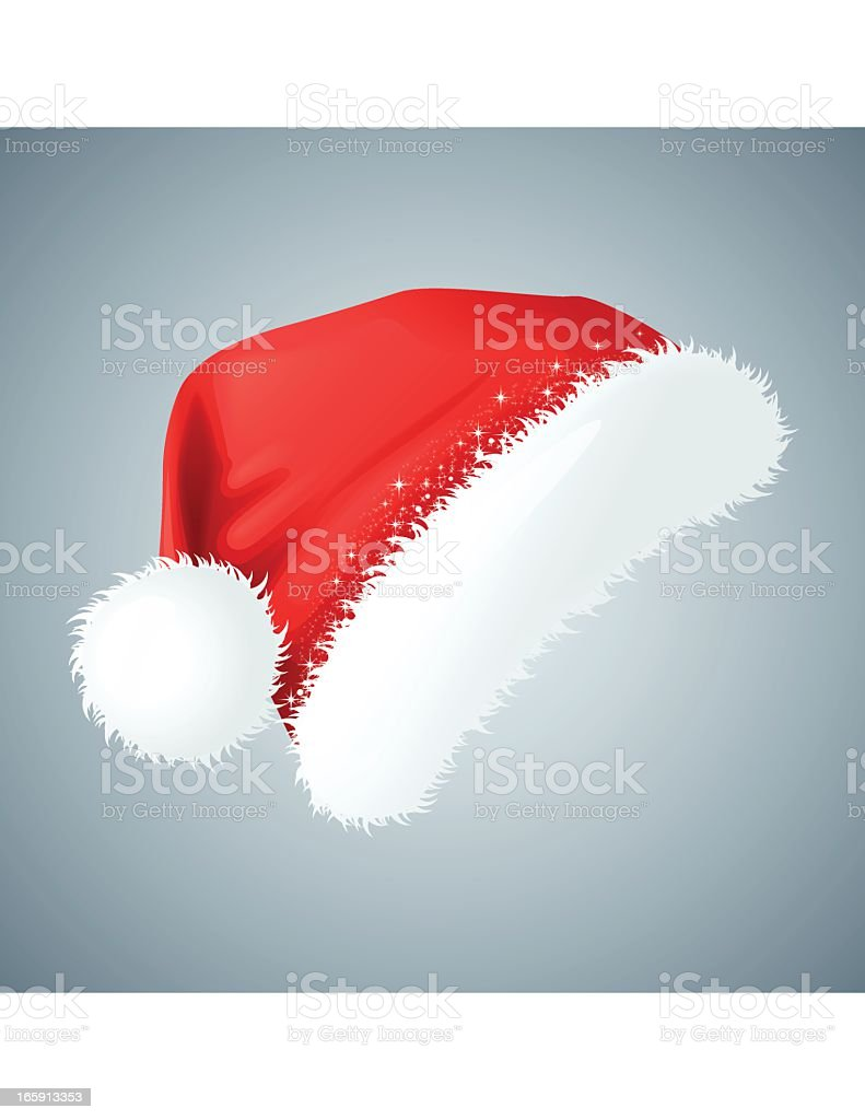 Isolated illustration of a classic Santa hat royalty-free stock vector art