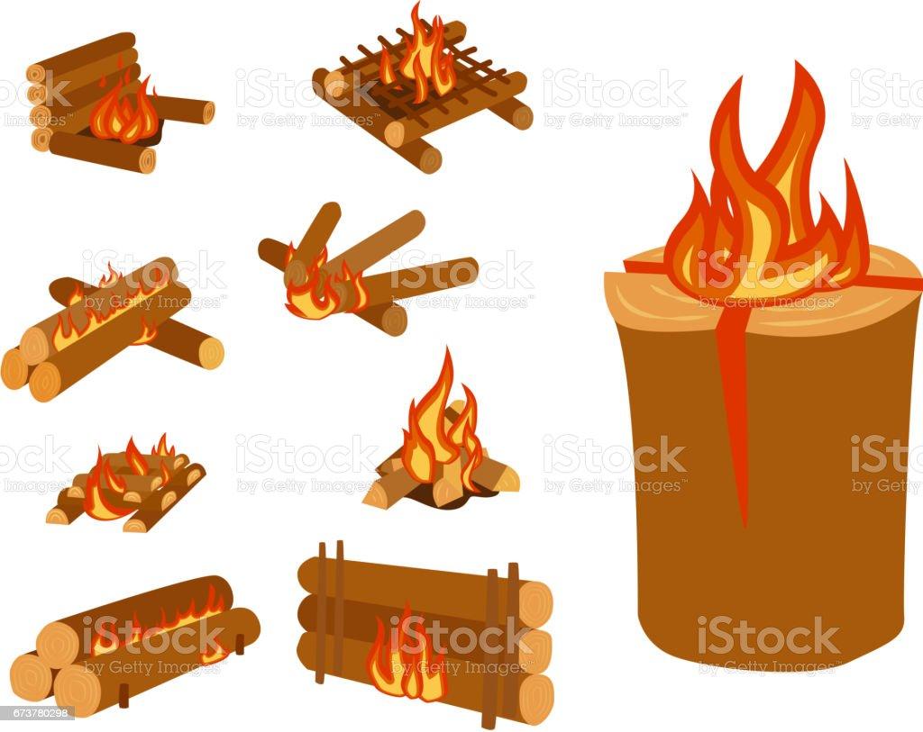 Enregistre les illustration isolée du feu de camp feu feu de joie et de bois de chauffage pile vector enregistre les illustration isolée du feu de camp feu feu de joie et de bois de chauffage pile vector – cliparts vectoriels et plus d'images de abstrait libre de droits