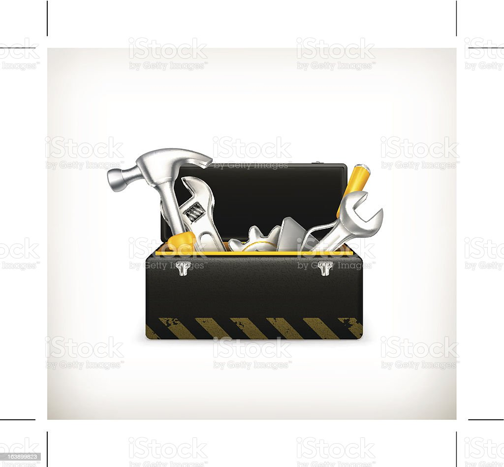 Isolated image of a toolkit on white royalty-free stock vector art