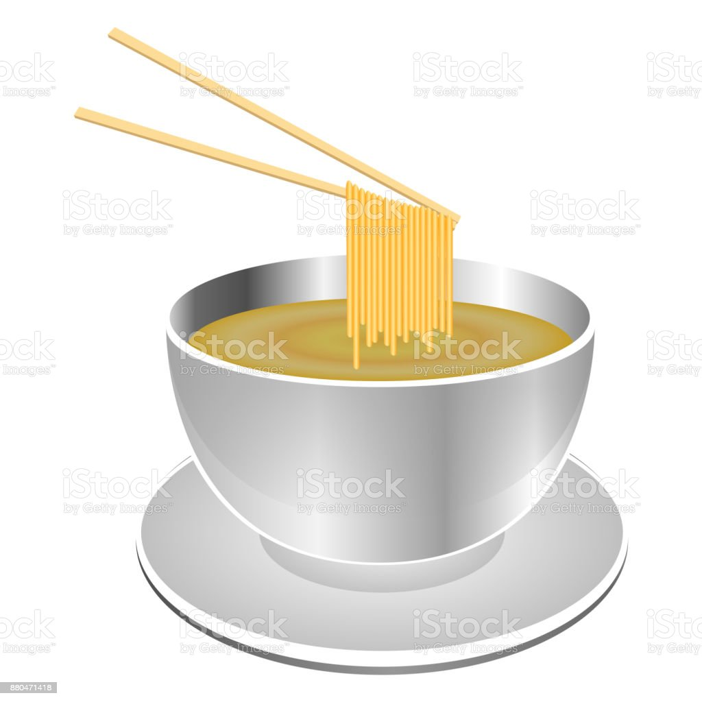Isolated instant soup vector art illustration