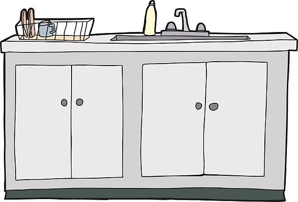 166 Kitchen Sink Drawings Illustrations Clip Art Istock