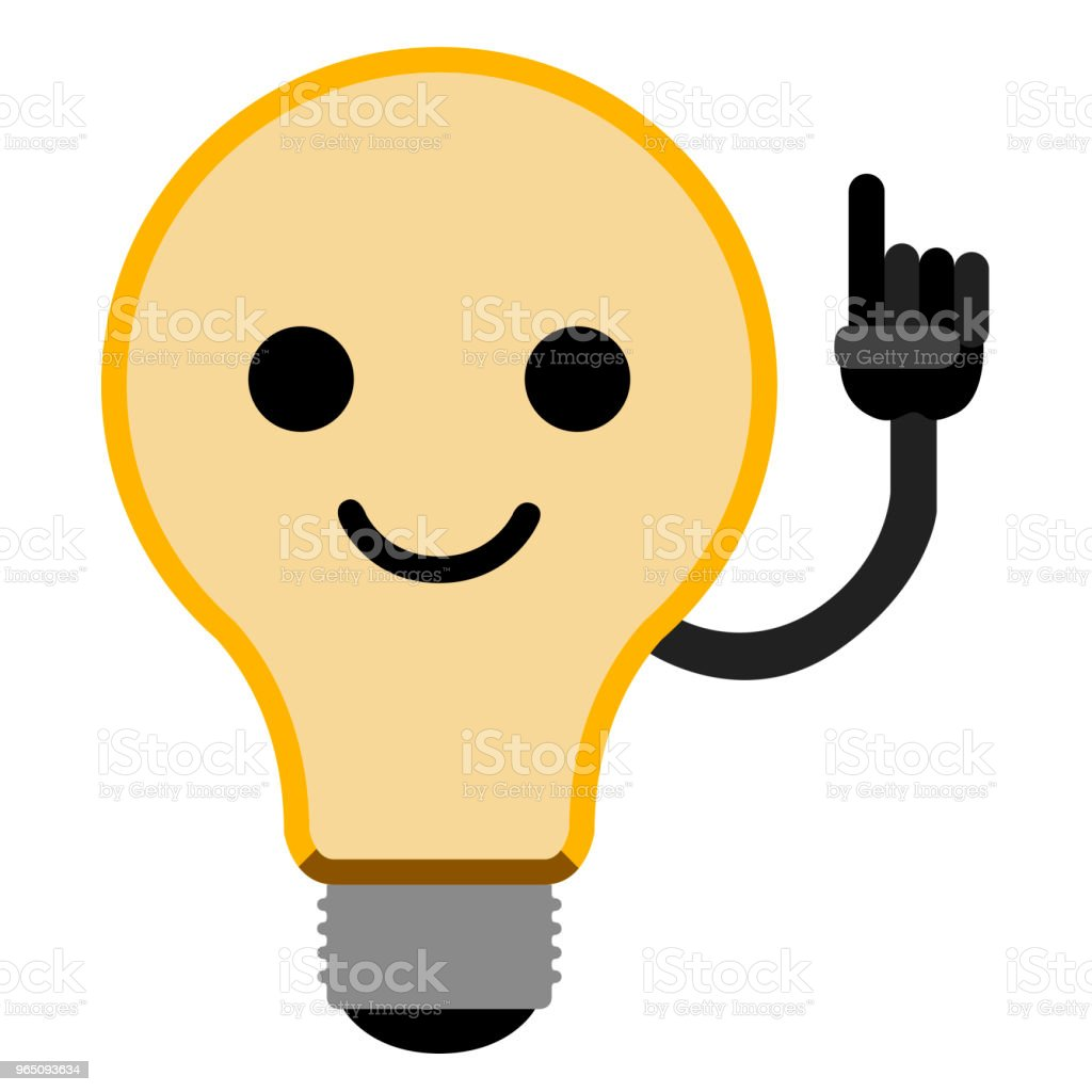 Isolated lightbulb emoticon royalty-free isolated lightbulb emoticon stock vector art & more images of art