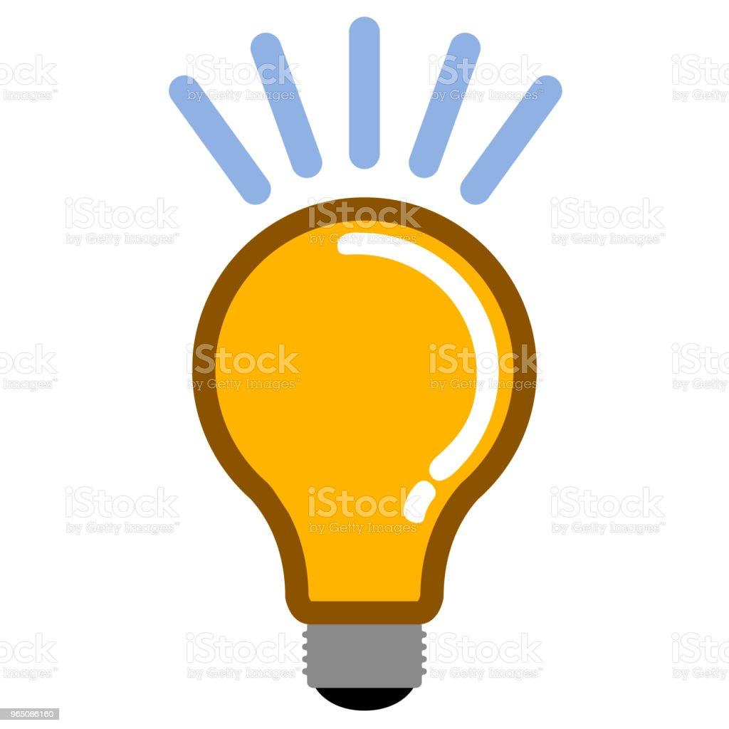 Isolated lightbulb icon royalty-free isolated lightbulb icon stock illustration - download image now