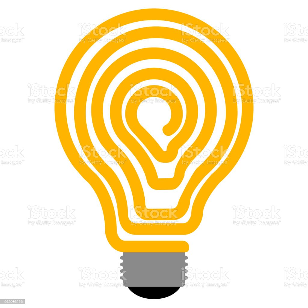 Isolated lightbulb icon royalty-free isolated lightbulb icon stock vector art & more images of art