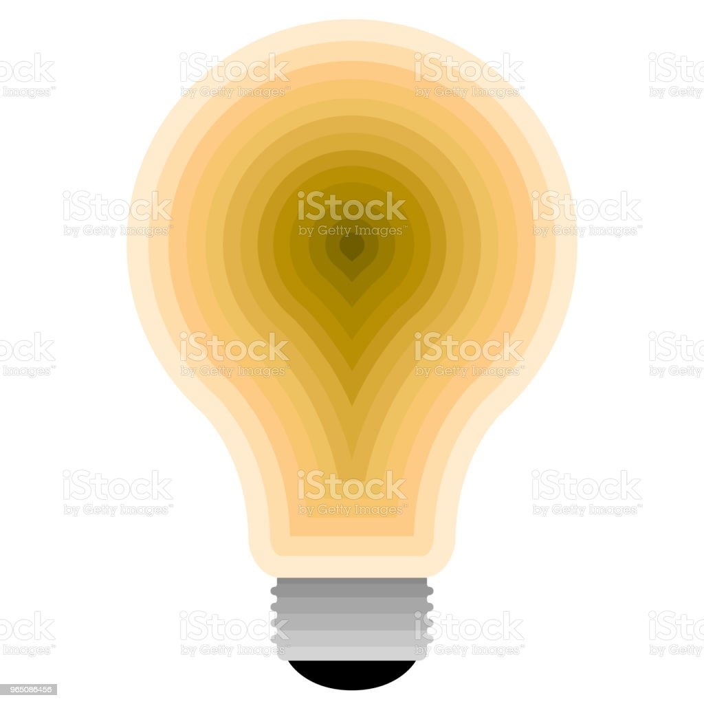 Isolated lightbulb icon royalty-free isolated lightbulb icon stock vector art & more images of abstract