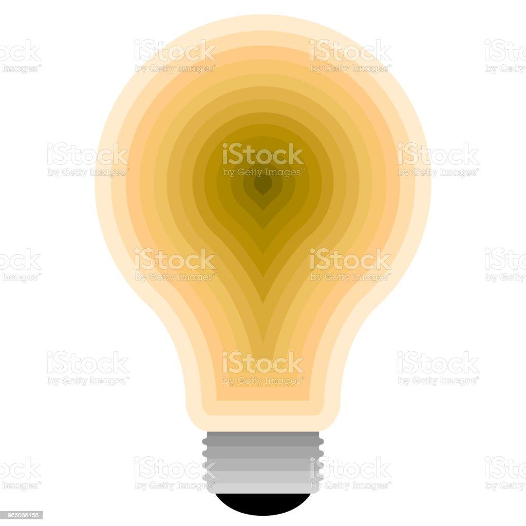 Isolated lightbulb icon isolated lightbulb icon - stockowe grafiki wektorowe i więcej obrazów abstrakcja royalty-free