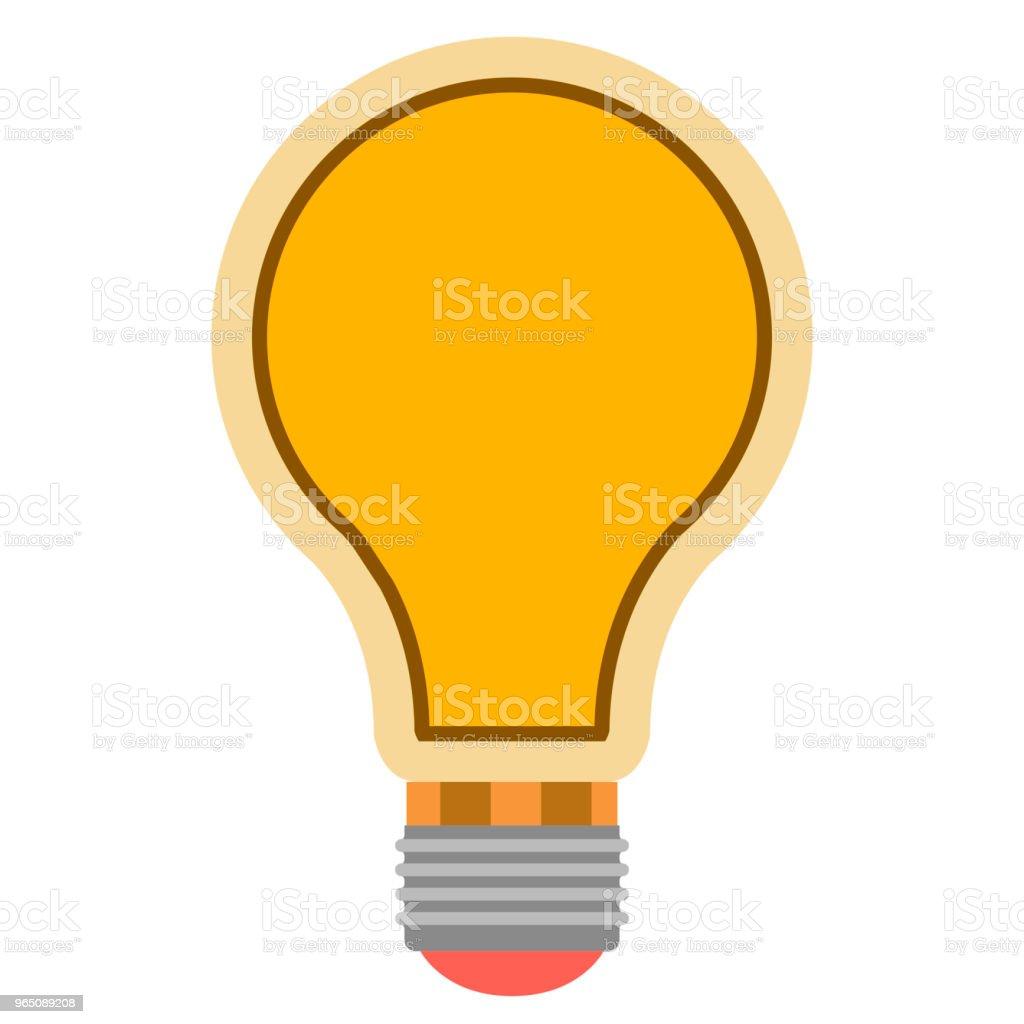 Isolated lightbulb icon isolated lightbulb icon - stockowe grafiki wektorowe i więcej obrazów bez ludzi royalty-free