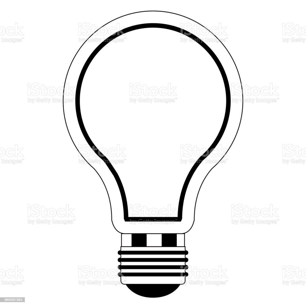 Isolated lightbulb outline isolated lightbulb outline - stockowe grafiki wektorowe i więcej obrazów bez ludzi royalty-free