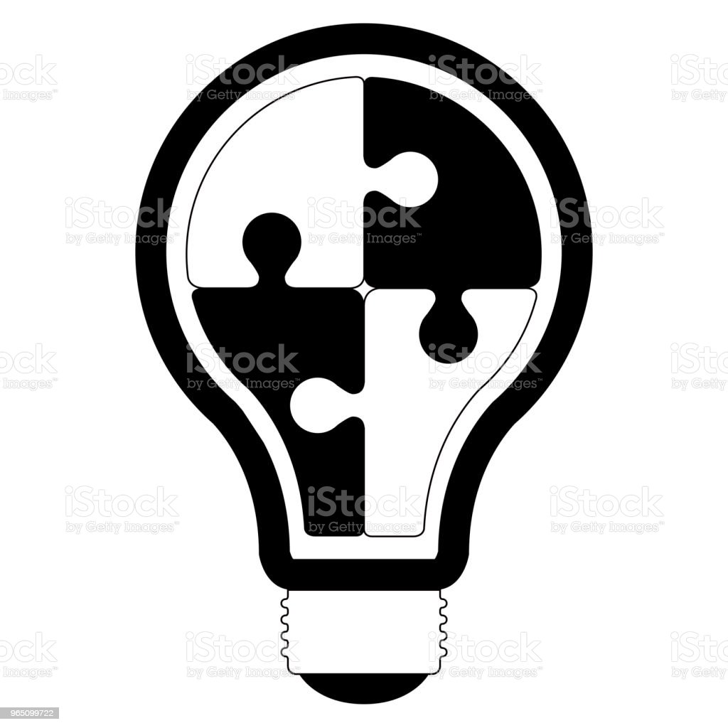 Isolated lightbulb silhouette royalty-free isolated lightbulb silhouette stock vector art & more images of art