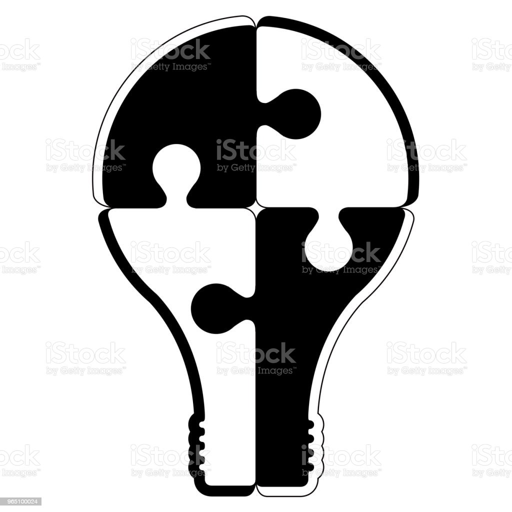 Isolated lightbulb silhouettte royalty-free isolated lightbulb silhouettte stock vector art & more images of art