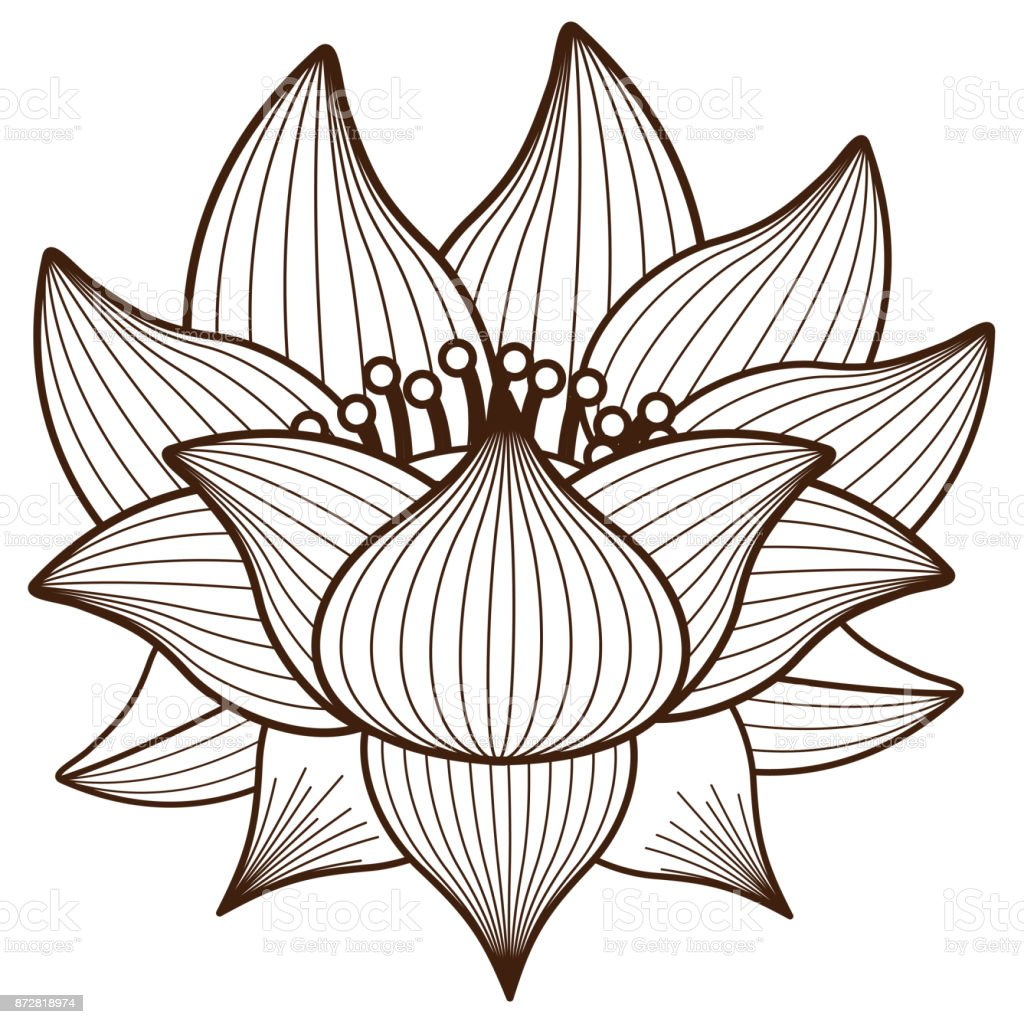 Isolated lotus flower design stock vector art more images of isolated lotus flower design royalty free isolated lotus flower design stock vector art amp izmirmasajfo