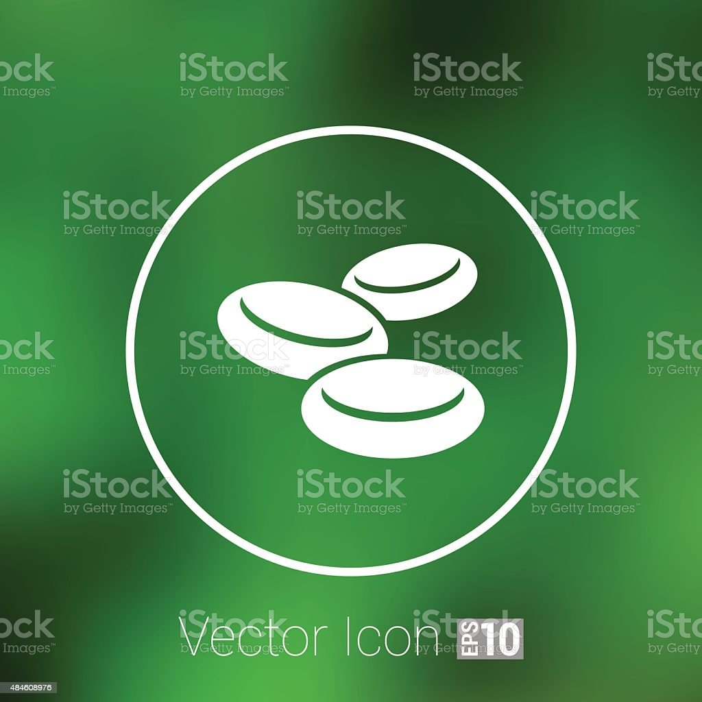isolated macro of group erythrocytes corpuscles icon vector art illustration