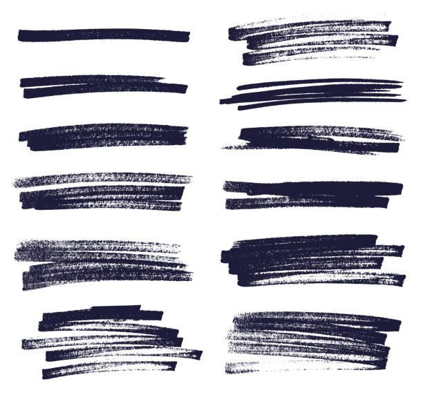 izolowane linie znaczników na białym tle - linia stock illustrations