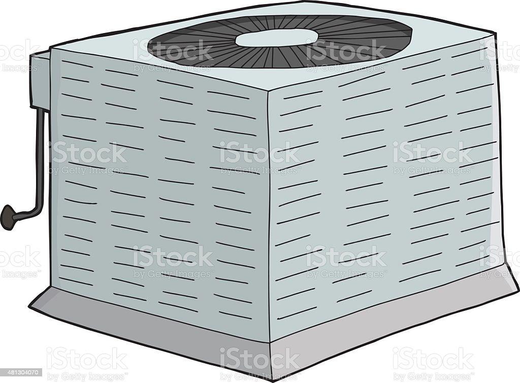 Isolated Metal AC Unit vector art illustration