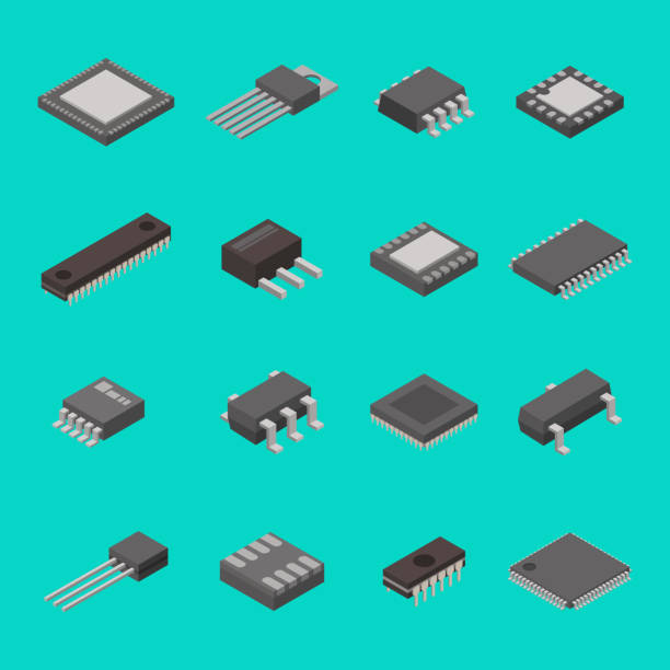 Best Electronic Component Illustrations, Royalty-Free Vector