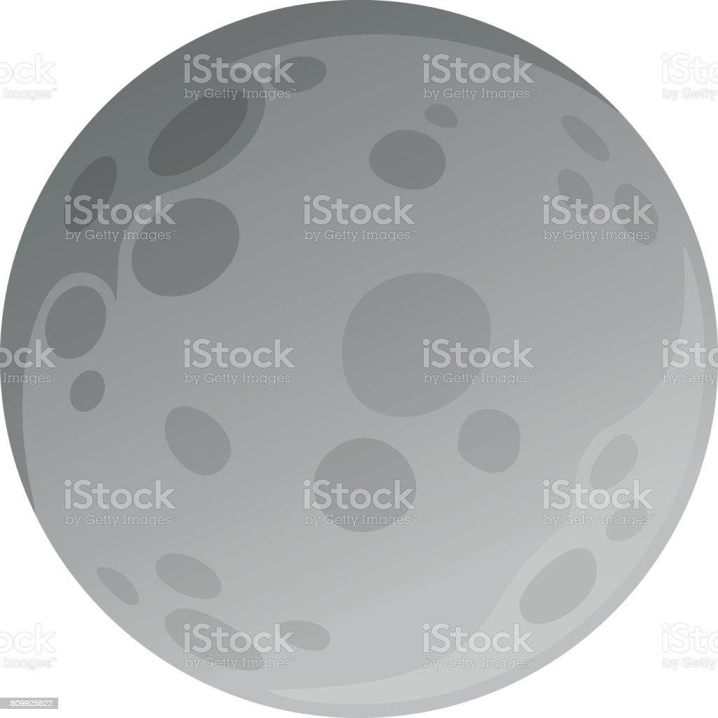 フラット スタイルで作られる分離の月 ベクターアートイラスト