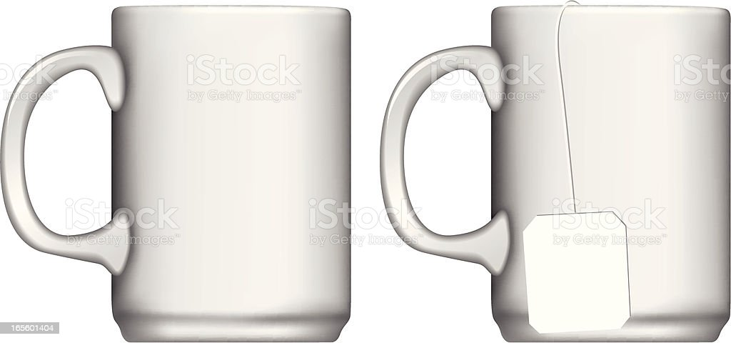 Isolated Mugs royalty-free stock vector art