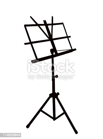 Isolated music stand