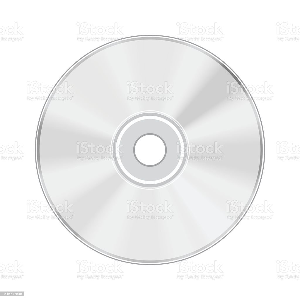 CD isolated on white background vector art illustration
