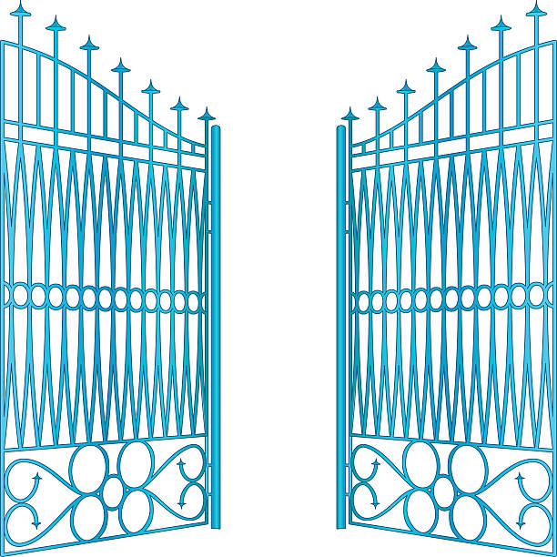 Royalty free gate clip art vector images illustrations