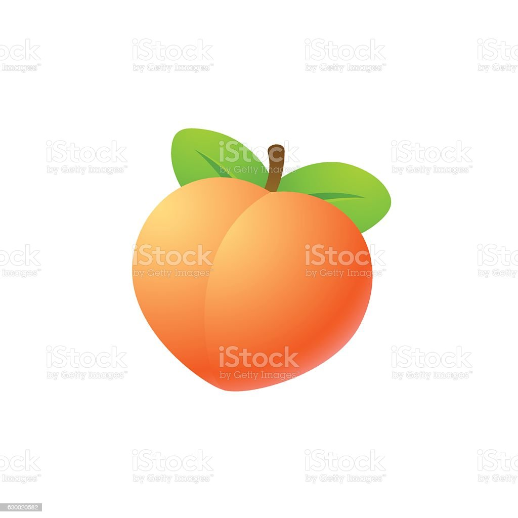 Isolated peach illustration - Illustration vectorielle