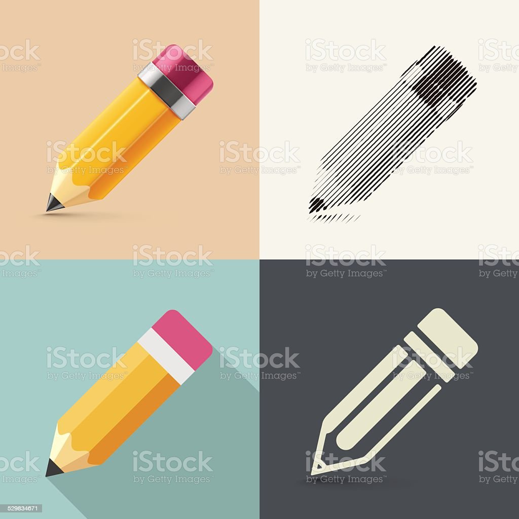 Isolated Pencil vector art illustration