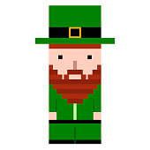 Isolated pixel patrick day elf