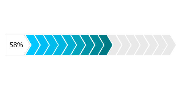 yalıtılmış ilerleme çubuğu görüntüsü - bar stock illustrations