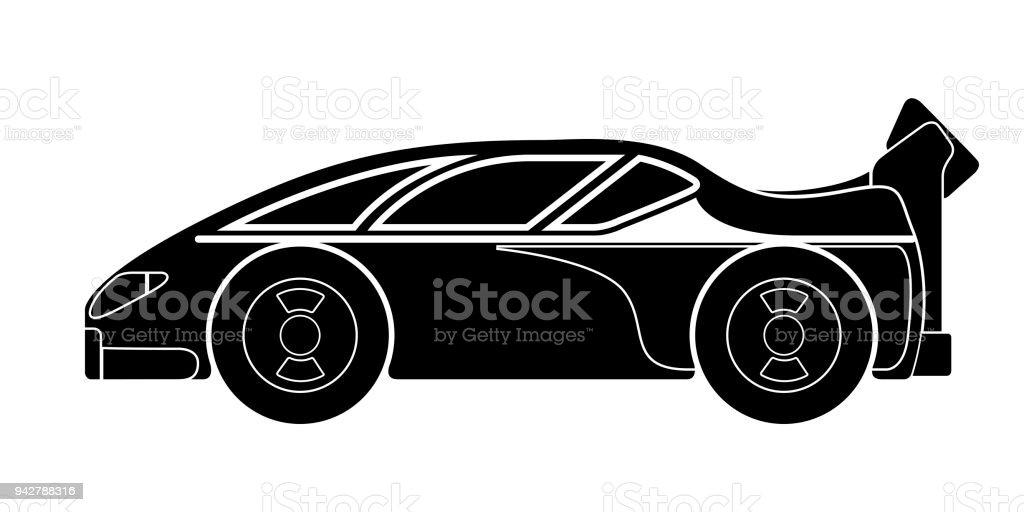 Izole Yarış Araba Simgesi Stok Vektör Sanatı Araba Motorlu Taşıt