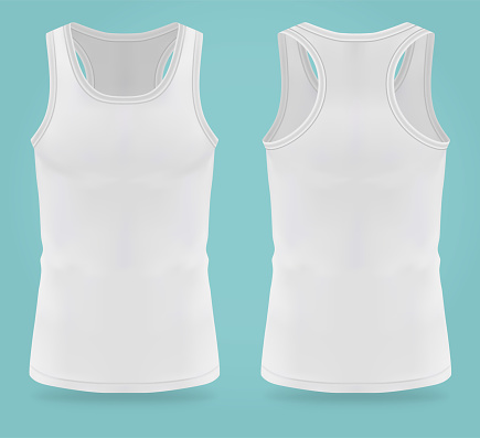 Isolated realistic white t-shirts for women sport