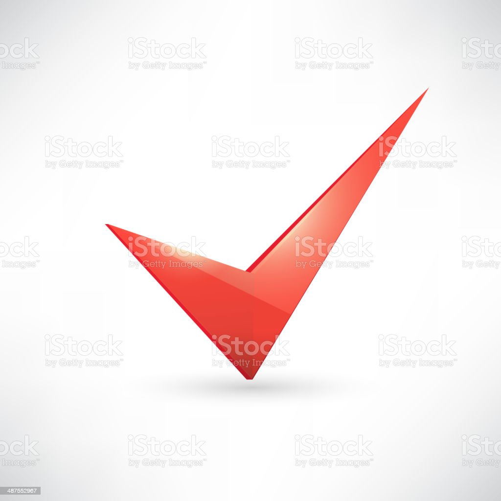 Isolated red check mark royalty-free stock vector art
