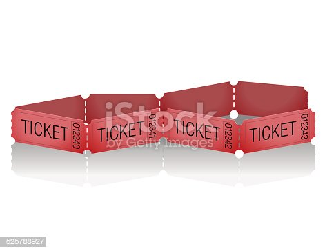 Isolated Red tickets