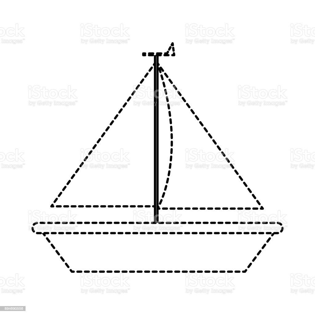Isolated sailboat design vector art illustration