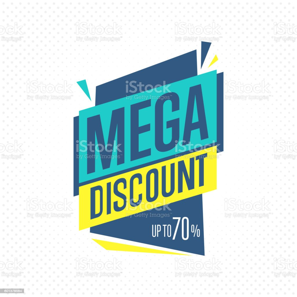 Isolated sale badge, label or sticker, vector vector art illustration