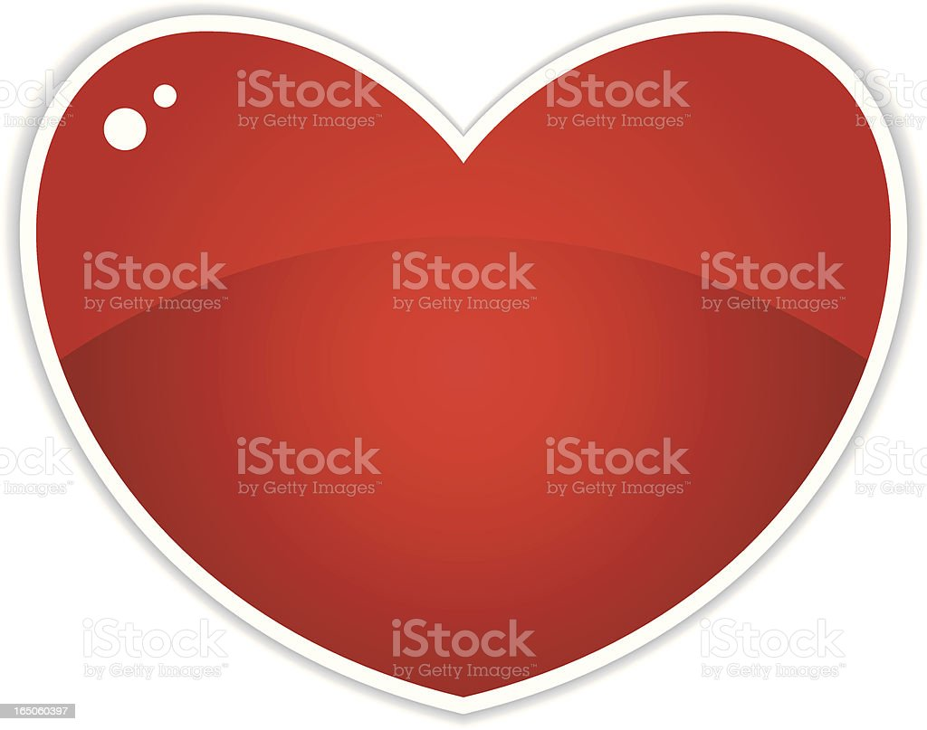 Isolated series -  Heart royalty-free stock vector art