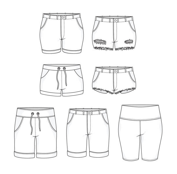 Best Booty Shorts Drawing Illustrations, Royalty-Free