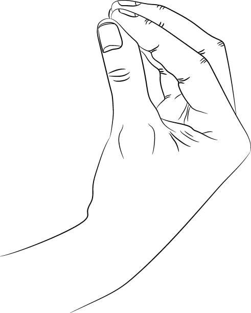 illustrazioni stock, clip art, cartoni animati e icone di tendenza di isolated silhouette of the hand that shows italian gesture of wtf or what do you want from me - sud europeo
