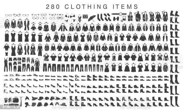 Isolated silhouettes of men and women clothing vector id613877832?b=1&k=6&m=613877832&s=612x612&h=wwwiaq7km1 zrc73ir9roxpxlrn7i0ejcv2zpsx74y0=
