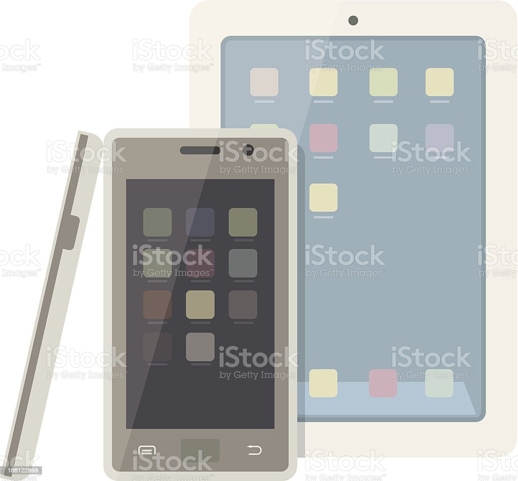 Isolated Smart Phone royalty-free stock vector art