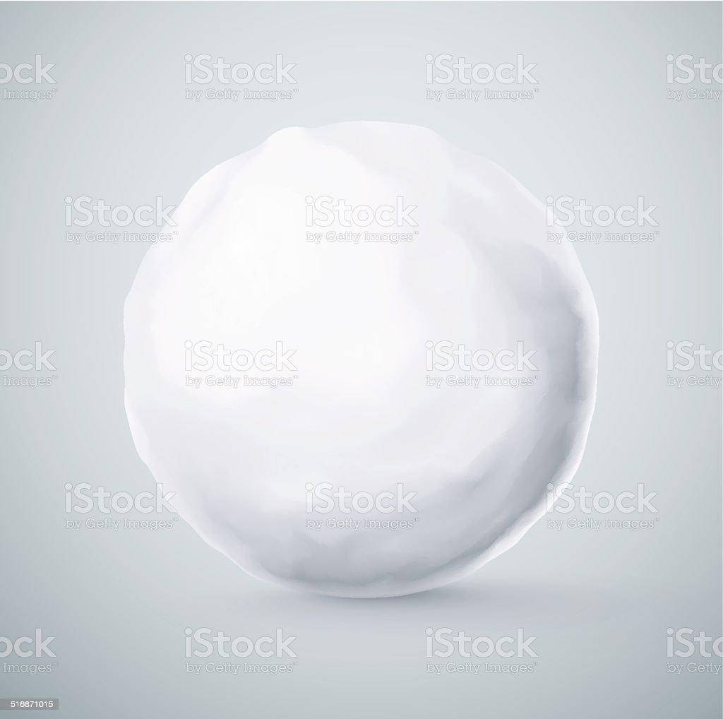 Isolado de bola de neve - ilustração de arte em vetor