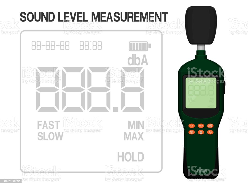 Isolated Sound Level Meter On Transparent Background Display Screen