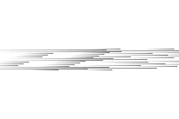 ilustraciones, imágenes clip art, dibujos animados e iconos de stock de líneas de velocidad aislado. el efecto de movimiento a su diseño. líneas negras sobre un fondo transparente. la ilustración de particles.vector vuelo. el movimiento hacia adelante - velocidad