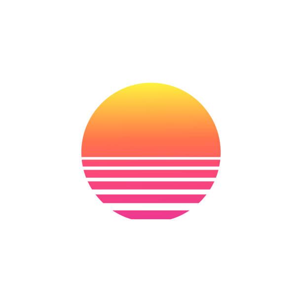 izolowany gradient zachodu słońca na białym tle. - zachód słońca stock illustrations