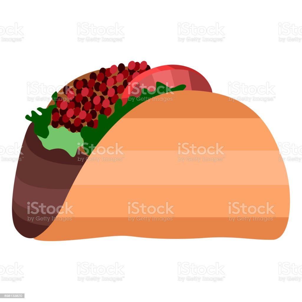 Isolierte Taco Abbildung Stock Vektor Art Und Mehr Bilder Von