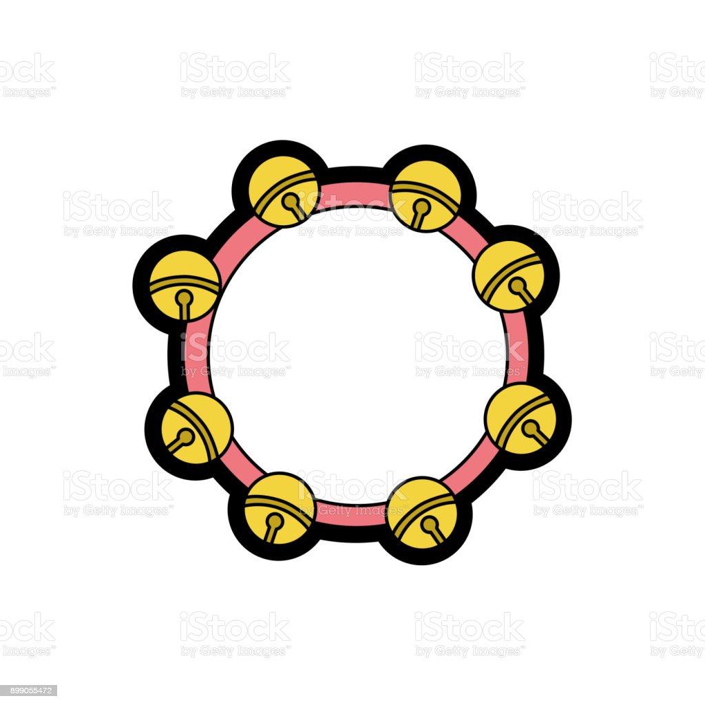 Isolated tambourine design vector art illustration
