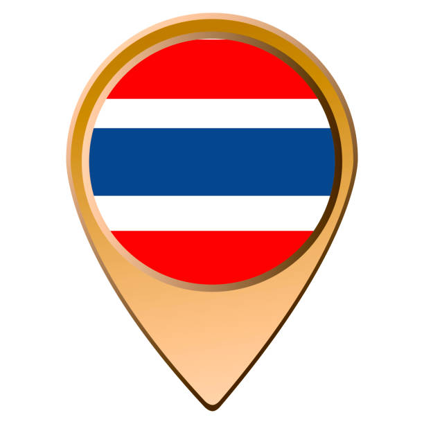 isolated thai flag - thai flag stock illustrations, clip art, cartoons, & icons