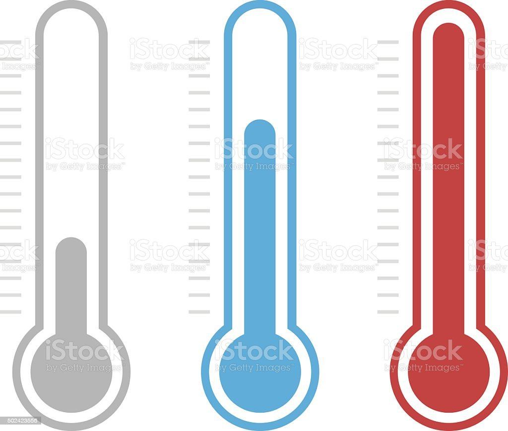 royalty free thermometer clip art vector images illustrations rh istockphoto com clip art thermometers for arizona clip art thermometer fundraising goal