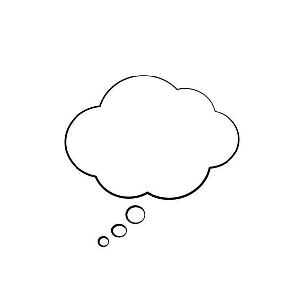 illustrations, cliparts, dessins animés et icônes de isolé think cloud. illustration vectorielle - bulle