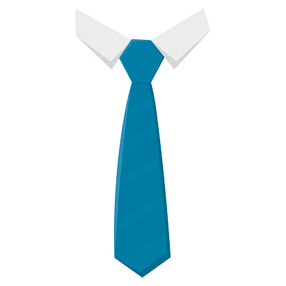 Isolated tie on the neck of a shirt Vector